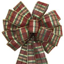 burgundy wired ribbon bows wired burgundy plaid bow 14 inch