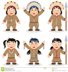 Indian Thanksgiving Thanksgiving Day Native Characters Set Stock Vector Image 45265041