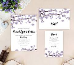 purple wedding invitation kits wedding invitation lemonwedding