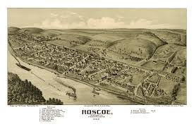 Map Of Pennsylvania Beautifully Restored Map Of Roscoe Pa From 1902 Knowol