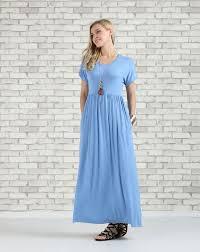 blue pocket empire waist maxi dress plus too blue suzanne
