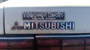 mitsubishi sticker junkyard find 1990 mitsubishi sigma
