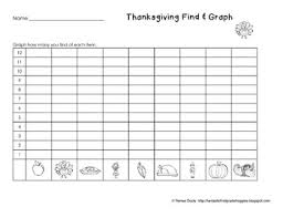 thanksgiving math find tally and graph by renee dooly tpt