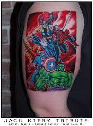 comic book ink superhero tattoos
