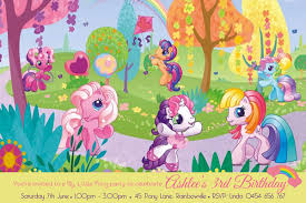 my little pony birthday party invitation personalised