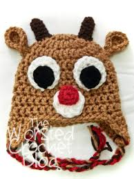 worsted crochet blog rudolph red nosed reindeer
