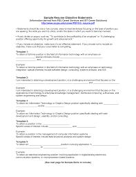 resume templates and exles exle resume objective statements venturecapitalupdate