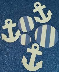 Nautical Theme Birthday Invitations - choose color paper unicorn theme cupcake toppers centerpieces