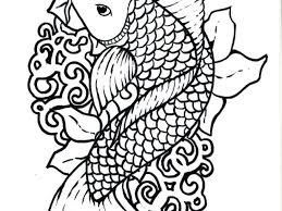 japanese koi fish coloring pages free coloring pages kids