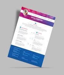 free professional resume cv design template for designers psd