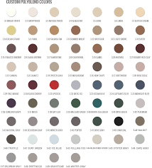 grout color matching color chart by grout shield