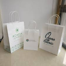 white gift bags wholesale 1000pcs lot 27hx21x11cm custom 140g white kraft paper