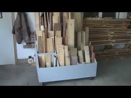 Mobile Lumber Storage Rack Plans by Building A Roll Around Cart For Cutoffs Youtube