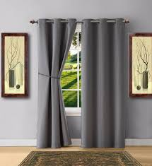 warm home designs grey blackout curtains valance scarves tie