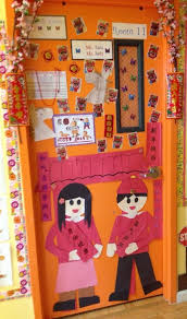 Board Decoration For New Year by Chinese New Year Door Decorations Chinese New Year Preschool