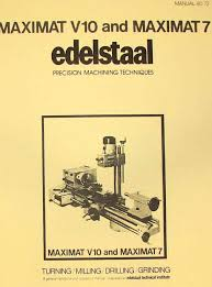 emco unimat 3 mill metal lathe instruction manual ozark tool