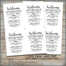 hotel gift bags for wedding guests wedding welcome bag tags wedding itinerary wedding schedule