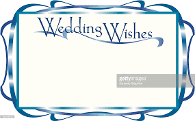 wedding wishes clipart border heading wedding wishes squiggly line ad frame vector