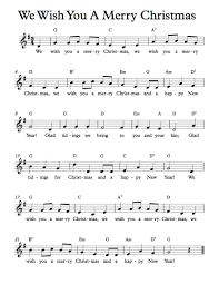 free sheet music free lead sheets we wish you a merry