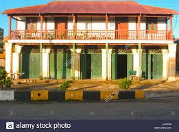 colonial house with double doors and balcony kalaw burma myanmar