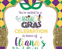 birthday invitations birthday party invitations mardi gras invite etsy