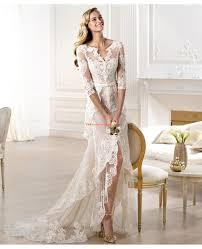 brautkleid rmel spitze 2014 elegante brautkleider aus satin mit spitze ärmel v ausschnitt