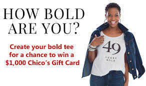 chicos gift cards chico s howboldareyou 1 000 contest 3 31 1pp18 sweeties