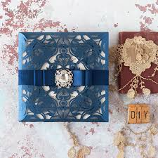 How To Make Your Own Wedding Invitations How To Make Glamorous Laser Cut Invitation With Sparkle