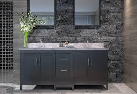 ace hollandale 73 inch double sink bathroom vanity set black finish