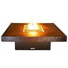 Rectangle Fire Pit - amazon com cooke hammered copper santa barbara rectangular fire