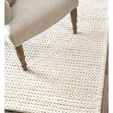 Off White Rug Hand Woven Chunky Woolen Cable Rug In Off White Design By Nuloom