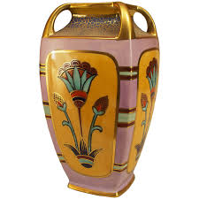 Noritake Vases Value Antique Art Deco Noritake Morimura Vase Signed For Sale At 1stdibs