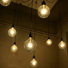 creative personality black chandelier bulb pendant lights vintage