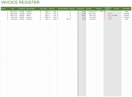 Customer Management Excel Template Invoice Register Free Template For Excel
