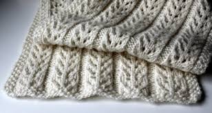 knitted things birch trees scarf free pattern