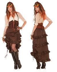 saloon womens halloween costume u0027s womens steampunk industrial age saloon skirt costume