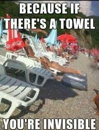 Funny Memes 2014 - because if theres a towel shes invisible meme