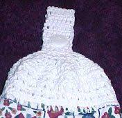 pattern crochet towel holder cross stitch towel topper pattern crochet towel toppers