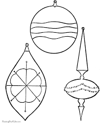 ornaments coloring pages printable