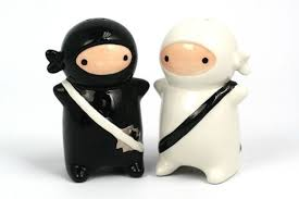 funny salt and pepper shakers ninja salt pepper shakers neatorama