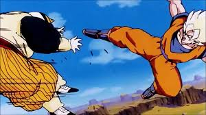 goku vs android 19 z ssj2 goku vs majin vegeta fight dailymotion