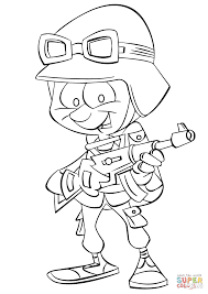 cartoon infantry soldier coloring page free printable coloring pages