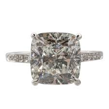 cushion ring cert cushion cut 6 04 carat diamond engagement ring for sale