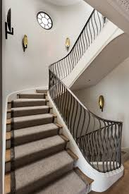 modern stair railing staircase modern with banister dark floor