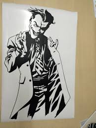 aliexpress com buy cartoon joker poster black wall decal dc aliexpress com buy cartoon joker poster black wall decal dc marvel comics superhero sticker vinyl dorm club home interior decor room cool art mural from