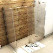 1700 x 800mm walk in shower wet room pack u0026 tray 10mm glass panels