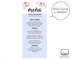 free menu templates printable teaching resume format