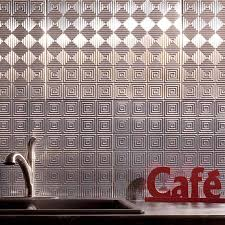 fasade backsplash miniquattro in brushed aluminum