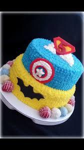 superhero theme cake buttercream icing fondant decor truffles