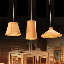 Modern Multi Light Pendants Novelty Three Light Wood Designer Multi Light Pendant With Wooden